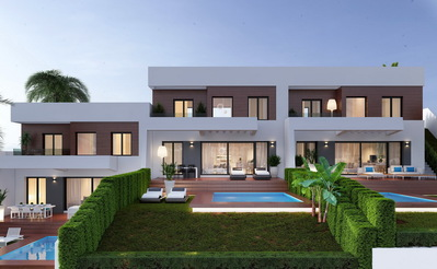 Ref:T4063 Semi-detached Villa For Sale in Finestrat